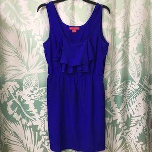 Royal blue & black dress' 2 pieces